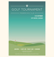 local golf tournament poster vector image vector image