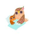loving mother owl putting her bato sleep happy vector image