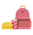 lunch box children icon flat style vector image vector image