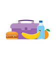lunch box to school vector image vector image