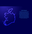 map ireland from luminous blue star space points vector image vector image