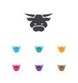 of animal symbol on bull icon vector image vector image