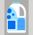 package milk with emblem plastic bottle icon vector image