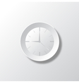Paper White Time vector image