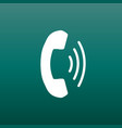 phone icon contact support service sign on green vector image