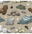 Rocks and stones elements pattern vector image
