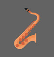 saxophone icon wind music instrument concept vector image vector image