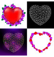 set happy valentines day greeting cards with vector image vector image
