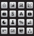 set of 16 editable logical icons includes symbols vector image vector image