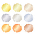 set of blank templates for coin price tags buttons vector image vector image