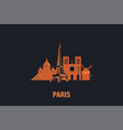 skyline paris city flat de vector image vector image