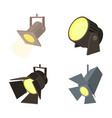 spotlight icon set cartoon style vector image