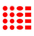 star price red stickers set vector image