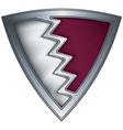 steel shield with flag qatar vector image