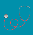 Stethoscope Red Doctor Tool Medical vector image
