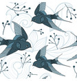 swallow seamless pattern vector image vector image