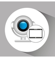 tablet pc technology web camera vector image vector image