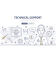 Technical Support Doodle Concept vector image