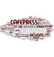 the cafepress idea of gifts and home business vector image vector image