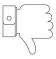 thumb down icon outline style vector image vector image