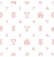 trophy icons pattern seamless white background vector image vector image