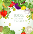 Vegetarian vegetable organic food background vector image
