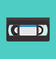 vhs cassette in a flat style vector image vector image
