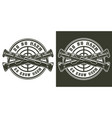 vintage military round logotype vector image