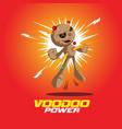 voodoo power doll vector image vector image