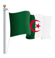 waving algeria flag isolated on a white background vector image vector image