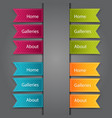 web bookmarks vector image vector image