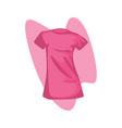 women t-shirt pink vector image