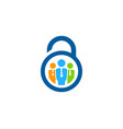 work security logo icon design vector image