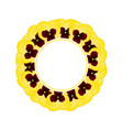 yellow pansy flower banner wreath vector image vector image