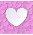 Heart for Valentines Day Background vector image