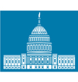 United States Capitol Hill vector image