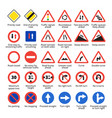 european traffic signs vector image