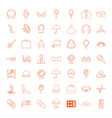 49 accessory icons vector image vector image