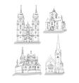 a set sketches churches vector image