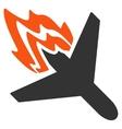 Air Crash Icon vector image vector image