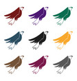 american eagle icon in black style isolated on vector image
