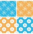 Atom pattern set colored vector image vector image