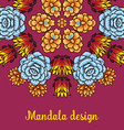 Banner with a kaleidoscope of succulents in style vector image