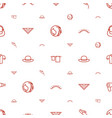 beauty icons pattern seamless white background vector image vector image