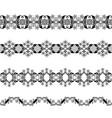 black openwork borders vector image vector image