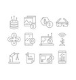 business and technology icons software program vector image vector image