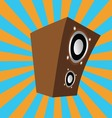 cartoon style speaker vector image vector image