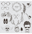 Collection of the monochrome objects vector image vector image