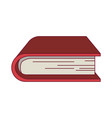colorful graphic of thick book vector image vector image