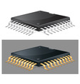 computer chip vector image vector image